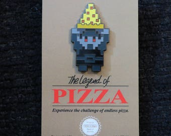 The Dark Legend of Pizza Enamel Pin