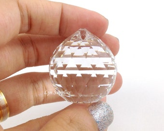 8558 CRYSTAL 30mm Swarovski Strass Crystal Ball, Fengshui Crystal Ball, Vintage Clear Swarovski Crystal Prism