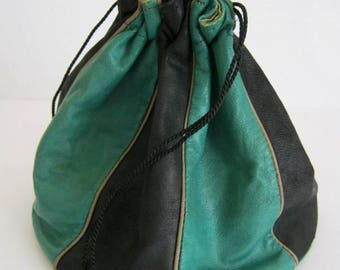 20s evening bag leather