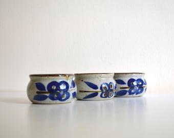 Three Vintage Small Stoneware Bowls