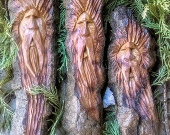 Wood Spirit Carvings (Cottonwood Bark)