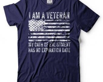 Veteran's Day T-Shirt Gift For Veteran US Military Birthday Gift T-Shirt