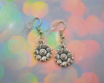 Sunflower Earrings Boho Jewelry / Sun Flower Earrings, Dangle Earrings, Flower Jewelry, Gifts for Her, Womens Earrings, Sunflower Jewelry
