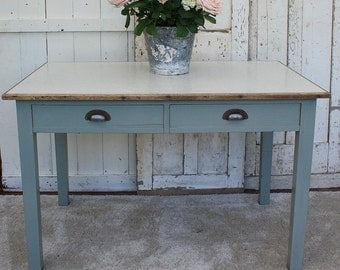 Solid Wood / Kitchen Table / Vintage Table / Painted Table / Dining Table / Craft Table / Farrow and Ball