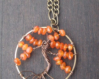 Carnelian Tree of Life Necklace