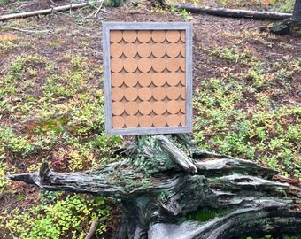 Framed circle cork board