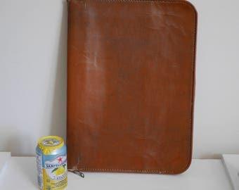 Vintage Leather Attache Portfolio - Tag says Pride - Ship 5.00