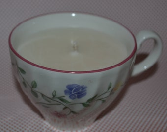Fine English China Teacup Organic Soy Candle