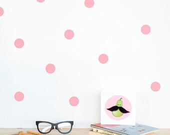 Polka Dots Wall Sticker Pink / Wall Dots Home Decal / Polka Dot Wall  Nursery / Part 65
