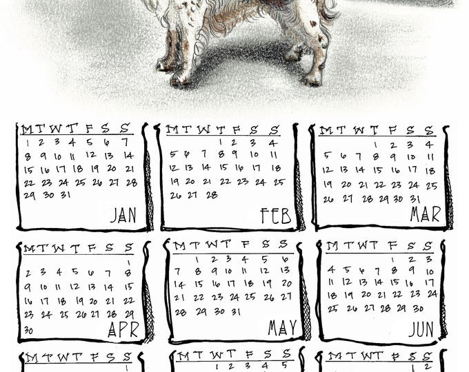 English Springer Spaniel 2018 yearly calendar