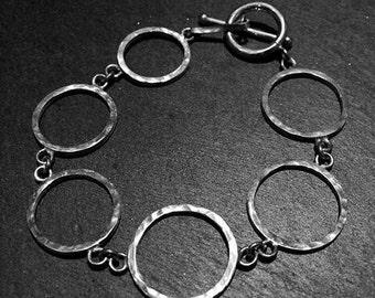 1Y2 - Bracelet 6 ronds fil carré martelé
