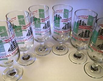 Heileman's Special Export stemmed beer glasses - set of six