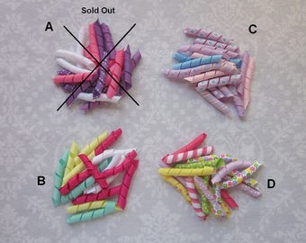 DIY Korker Hair Bow Kits OR Finished Bows, Grosgrain Ribbon, Corkscrew, Curled Ribbon, Pre-Cut Korker Ribbon, Assorted Colors, Hair Clips