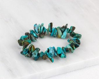 Green Turquoise Bracelet/ Teal Turquoise Bracelet/ Dainty Turquoise Bracelet/ Aqua Bracelet/ Turquoise Bead Bracelet