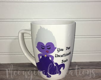 Disney/ Villain/ Little Mermaid/ Ursula/ Coffee Mug/ Tea Mug/ 12 oz/ Funny/ Evil/ Caffeine Mug/ Gift/ Disney Fan/ Mermaid/ Ariel