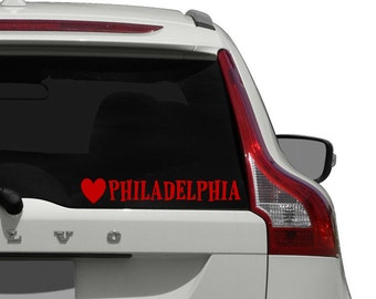 Philadelphia Car Decal / Love Philadelphia Car Decal Sticker / Philly Car Decal Sticker