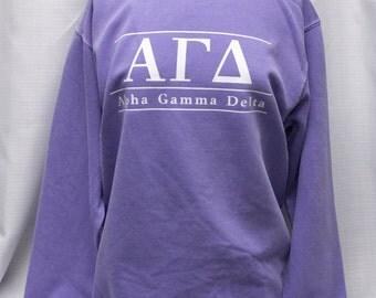 Alpha Gamma Delta Comfort Color Sweatshirt, Violet
