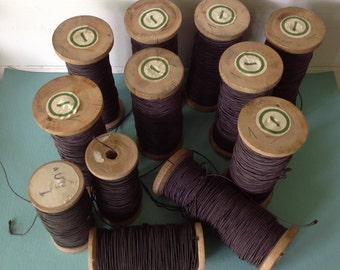 Set of 12 vintage bobbins