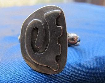 Taxco Chato Castillo Silver 980 Ring Pre-1948 ~ Size 7