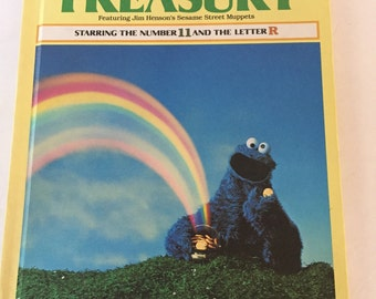 Vintage Hardback Edition of Sesame Street Treasury Volume 11 - Starring the Number 11 and the Letter R