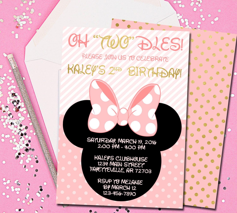 Minnie Mouse Invitation Minnie Mouse Birthday Invitation