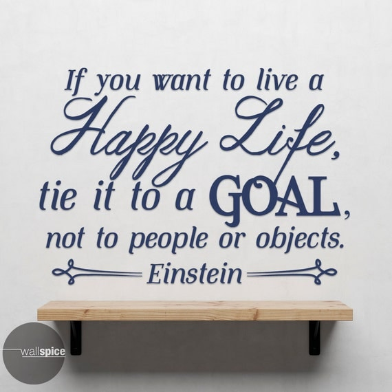 Live a Happy Life Goal Wall Decal Quote by WallSpiceDecals