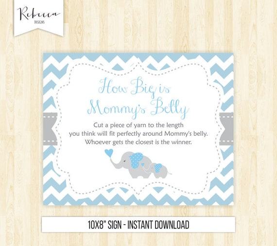 Modest image within guess mommy's tummy size printable