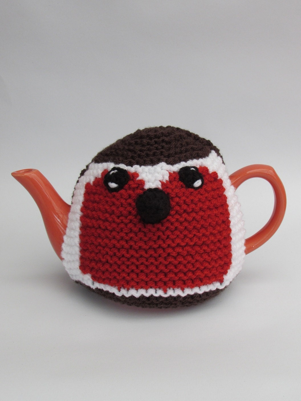 Knitted Teapot Cosy Patterns : Robin Tea Cosy Knitting Pattern