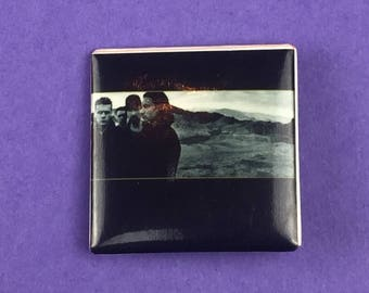 U2 Original 1980s Vintage Dead Stock Square Pin
