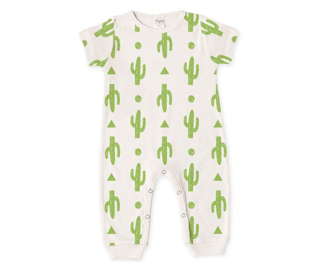 Newborn Baby Outfit, Newborn Coming Home Outfit, Baby Boy Girl Cactus Romper, Cactus Nursery, Baby Minimalist, Short Sleeve Romper, Tesababe