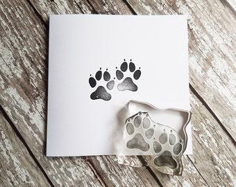 Dog Paw, rubberstamp, custom stamps