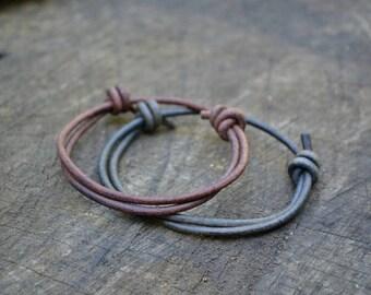 Simple adjustable leather bracelet, plain adjustable leather bracelet, minimal leather bracelet, simple men leather bracelet, men bracelet
