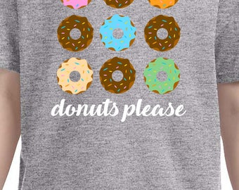 Donuts please shirts, personalized shirts, donut shirts