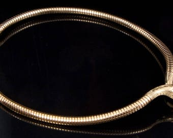 A 1960s 9ct Gold Snake Necklace