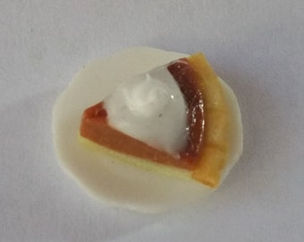 1:12 Scale Pumpkin Pie, Miniature Pumpkin Pie
