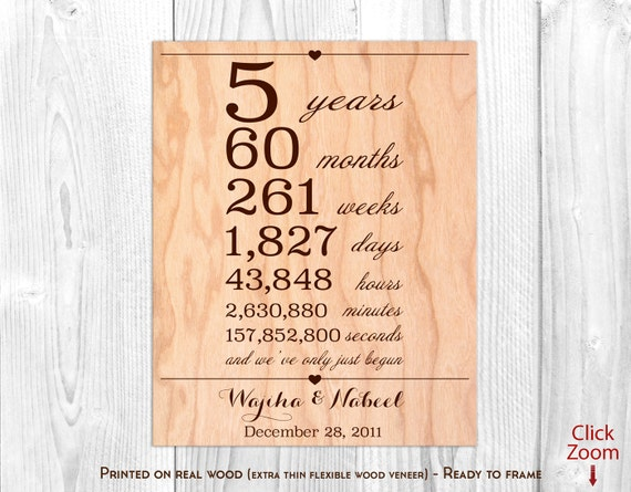 5th Wedding Anniversary Gift Ideas For Him: 5 Year Anniversary Gift For Him Wood Anniversary Gifts For