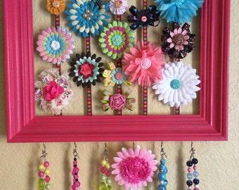 Hair Accessory Organizer - Hair Accessory Storage - Jewelry Organizer - Necklace Organizer - Hair Clip Organizer - Headband Organizer - Hair
