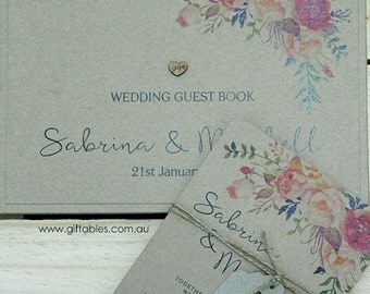 Personalised Guest Book - Wildflower Recycled