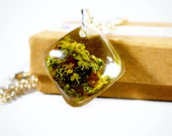 Healing Flower Pendant - Real Cannabis Jewelry - Weed Necklace - Hemp Necklace - Weed Pendant - Marijuana Jewelry - Best Buds Necklace