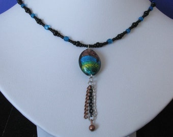 Necklace azure