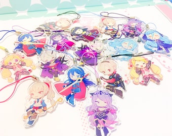 FIRE EMBLEM charms 1.5inch Double-sided Clear Acrylic