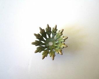 Verdigris Brass Leaf Bead Caps Patina Leaf Bead Caps Verdigris Leaf Bead Caps Patina Bead Caps 20mm (2 pcs) 6V24