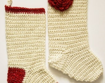 Christmas Crochet Stockings - Many Colors Available! | Customize-able Holiday Stockings