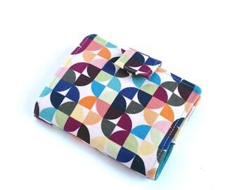Geometric Business Card Wallet, Womens Loyalty Card Holder, Geometric Card Holder, Fabric Credit Card Holder, Kaleidoscope Travel Wallet