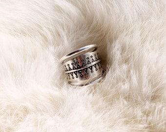 Viking spiral ring / silver ring/ adjustable ring
