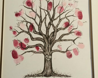 Special Occasion Thumbprint Guestbook Tree