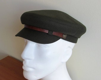 Mens Military Fiddler cap/ Fishermans Hat/ Driving Army Cap/ Newsboy hat