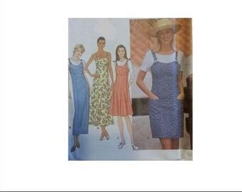 SIMPLICITY 8119, sewing pattern, women, jumper, overall, dress, skirt, sundress, size H (6,8,10), sewing, pattern