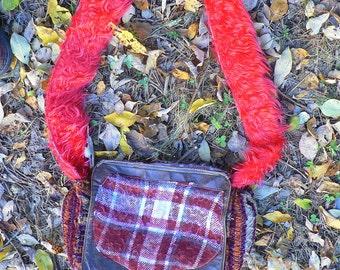shoulder bag in winter patchwork