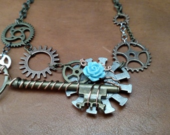 """Steampunk Necklace: """"Key to Other Doors"""""""